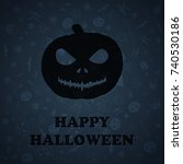 halloween background | Shutterstock . vector #740530186