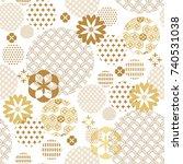 beautiful japanese seamless ... | Shutterstock .eps vector #740531038
