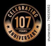 107 years anniversary logo... | Shutterstock .eps vector #740535052