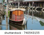 amphawa floating market thailand | Shutterstock . vector #740543155