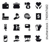 16 vector icon set   wallet ... | Shutterstock .eps vector #740547682