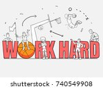 cartoon basketball player with... | Shutterstock .eps vector #740549908