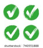 check mark   stock vector. | Shutterstock .eps vector #740551888