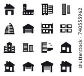 16 vector icon set   home ... | Shutterstock .eps vector #740555962