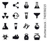 16 vector icon set   funnel ... | Shutterstock .eps vector #740558215