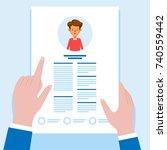 job interview and recruitment... | Shutterstock .eps vector #740559442