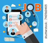 job search concept for your... | Shutterstock .eps vector #740560405