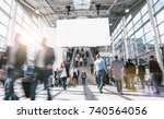 blurred business people at rush ... | Shutterstock . vector #740564056