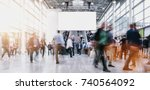 anonymous blurred people at a... | Shutterstock . vector #740564092