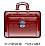 suitcase  for travel. touristic ... | Shutterstock .eps vector #740564266