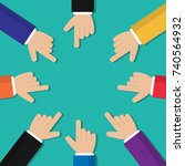 hands pointing vector | Shutterstock .eps vector #740564932