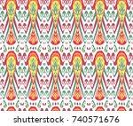 textile  fabric  ornament ... | Shutterstock . vector #740571676