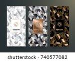 vector set packaging templates... | Shutterstock .eps vector #740577082