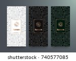 vector set packaging templates... | Shutterstock .eps vector #740577085