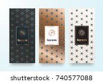 vector set packaging templates... | Shutterstock .eps vector #740577088