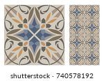 vintage patterns antique... | Shutterstock .eps vector #740578192