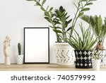 the modern room filled a lot of ... | Shutterstock . vector #740579992