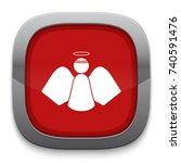 angel icon | Shutterstock .eps vector #740591476