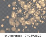 vector falling snow effect... | Shutterstock .eps vector #740593822
