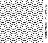 black white wave pattern... | Shutterstock . vector #740596942