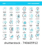 business and staff management | Shutterstock .eps vector #740605912