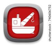 cargo ships crane icon   Shutterstock .eps vector #740606752