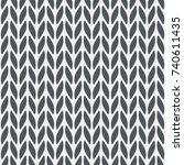 knitting seamless background... | Shutterstock .eps vector #740611435