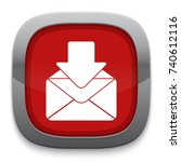 receiving mail icon   Shutterstock .eps vector #740612116