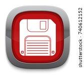 floppy disk icon | Shutterstock .eps vector #740612152