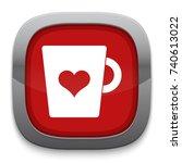 love cupful icon   Shutterstock .eps vector #740613022