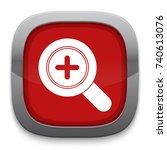 zoom in icon | Shutterstock .eps vector #740613076
