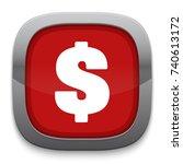 dollar icon | Shutterstock .eps vector #740613172