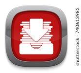Stock vector inbox drawer icon 740613982