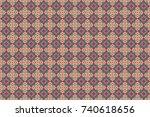raster seamless rhombus and... | Shutterstock . vector #740618656