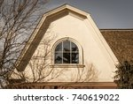 arched roof with isolated... | Shutterstock . vector #740619022