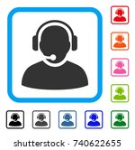 operator icon. flat grey... | Shutterstock .eps vector #740622655
