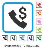 payphone icon. flat grey...