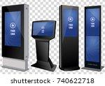 set of promotional interactive... | Shutterstock .eps vector #740622718