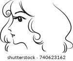 lady face vector | Shutterstock .eps vector #740623162