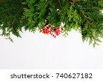 beautiful christmas background. ... | Shutterstock . vector #740627182