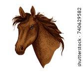 horse or brown mustang head