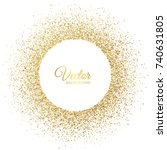 vector gold sparkles on white... | Shutterstock .eps vector #740631805