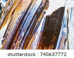 abstract   oil painted... | Shutterstock . vector #740637772