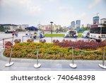 chengdu  china   september 29 ... | Shutterstock . vector #740648398