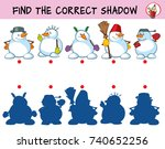 funny snowmen. find the correct ... | Shutterstock .eps vector #740652256