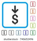 income dollar icon. flat grey...