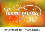 thanksgiving vector style... | Shutterstock .eps vector #740658088