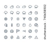 vector thin line icons set and...   Shutterstock .eps vector #740658502