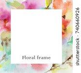Floral Frame. Invitation....