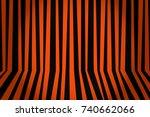 halloween background striped... | Shutterstock .eps vector #740662066